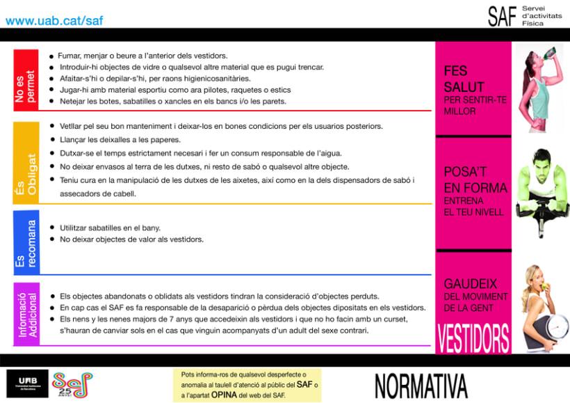 Carteles. Becari en el Servei d'Activitats Física-Universitat Autonoma de Barcelona 5