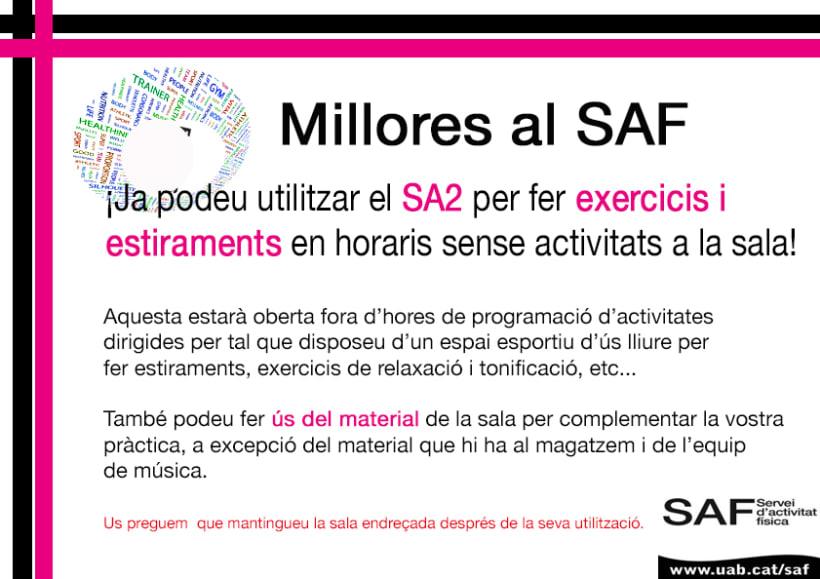 Carteles. Becari en el Servei d'Activitats Física-Universitat Autonoma de Barcelona 7