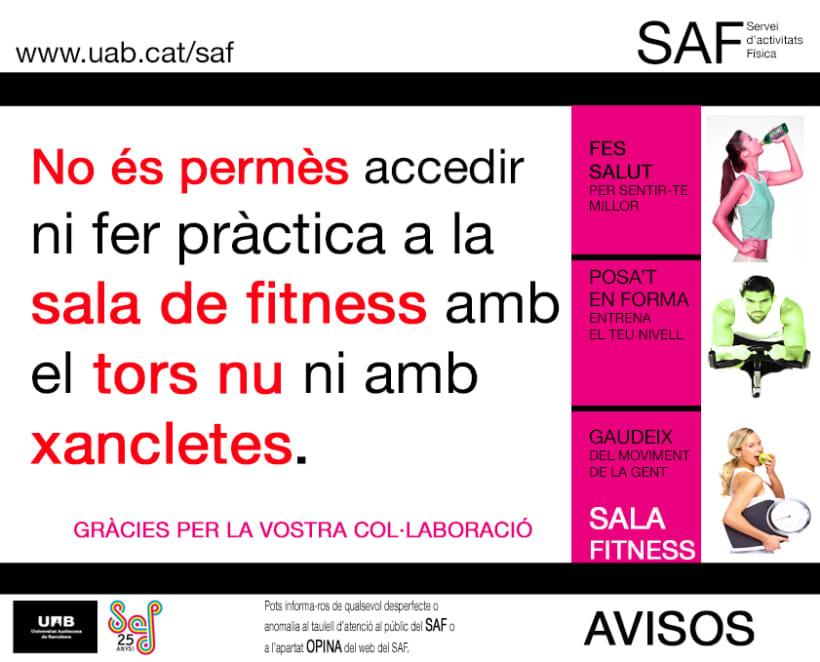 Carteles. Becari en el Servei d'Activitats Física-Universitat Autonoma de Barcelona 9