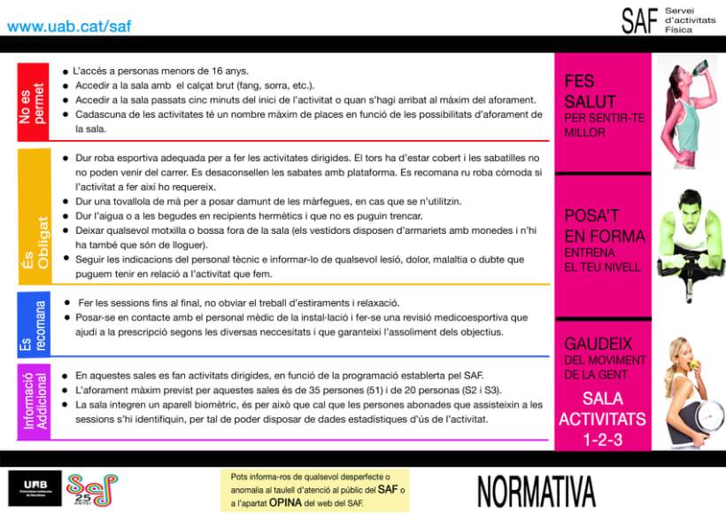 Carteles. Becari en el Servei d'Activitats Física-Universitat Autonoma de Barcelona 14