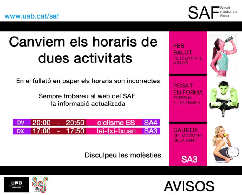 Carteles. Becari en el Servei d'Activitats Física-Universitat Autonoma de Barcelona 17