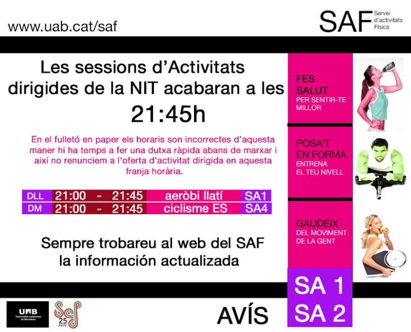 Carteles. Becari en el Servei d'Activitats Física-Universitat Autonoma de Barcelona 18
