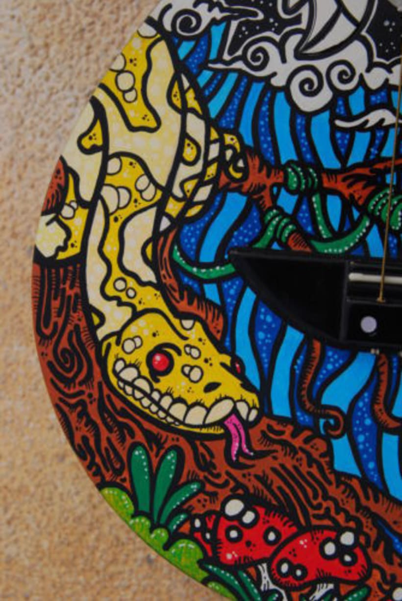 Acoustic Guitar Custom (hand painted) POSCA coloured. 2