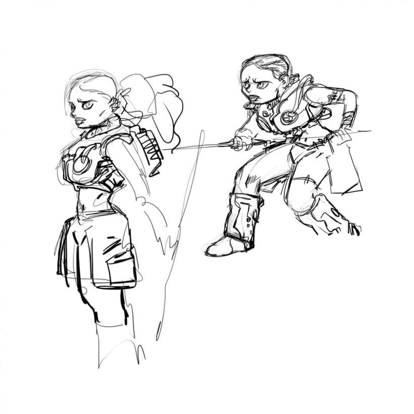 Chica versus Espíritu 1