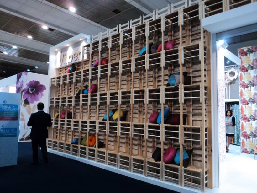 Stand Textiles Vilver. Feria Mood 2012. (Bruselas) 2