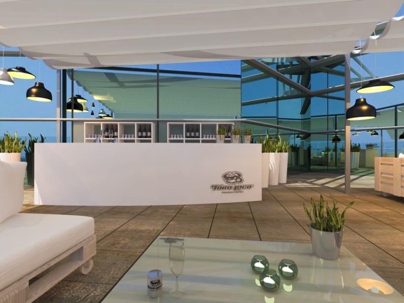 Proyecto de interiorismo para la Firma Toro Loco. El Corte Ingles Av. Francia 2013 (Valencia) 3