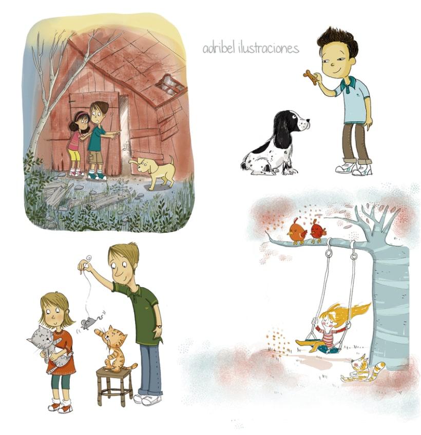 Personajes e ilustraciones de diferentes proyectos 1