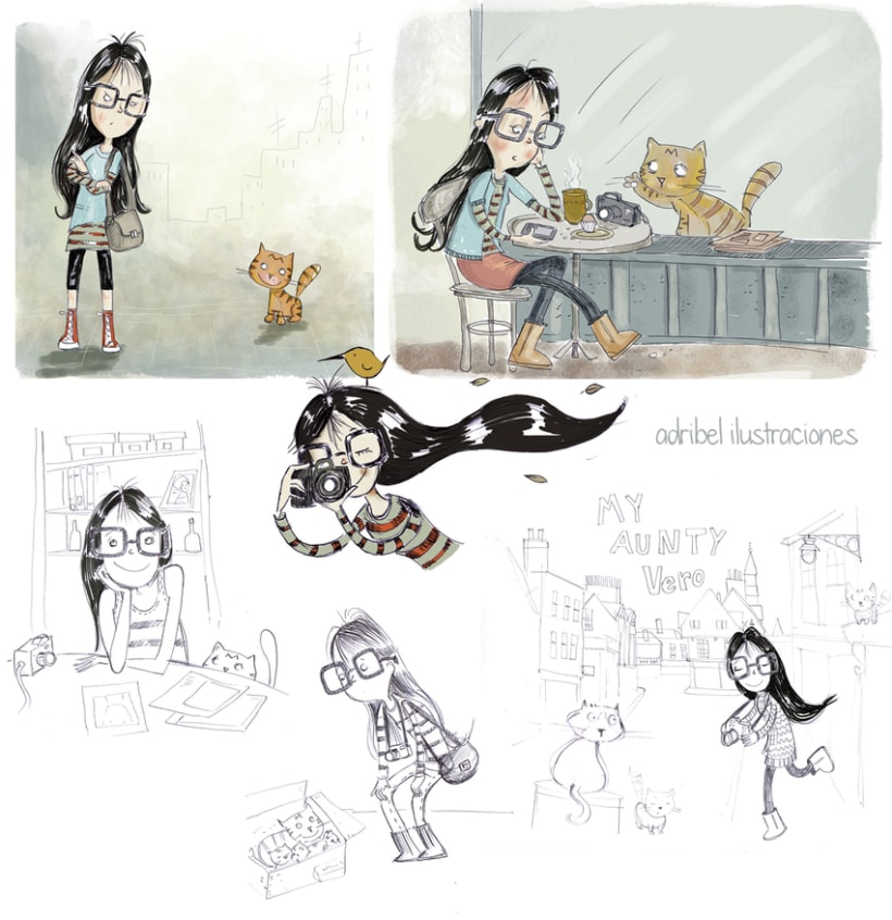 Personajes e ilustraciones de diferentes proyectos 2