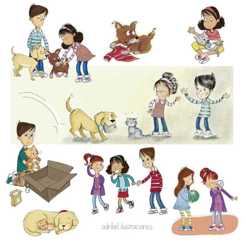 Personajes e ilustraciones de diferentes proyectos 3