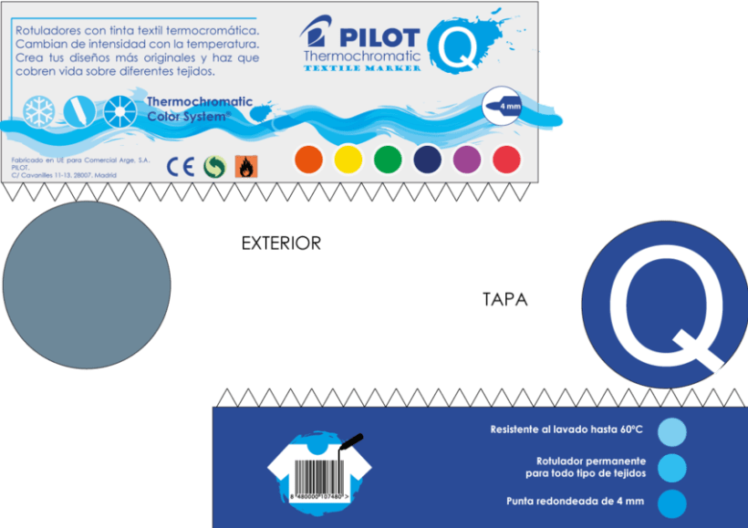 Diseño de Rotulador Termocromático de Pilot - Colaboración con Nowe Creative 2