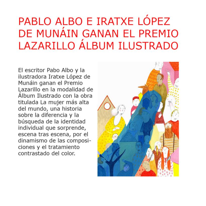 """Premio Lazarillo 2013. """"La mujer más alta del mundo"""" 1"""