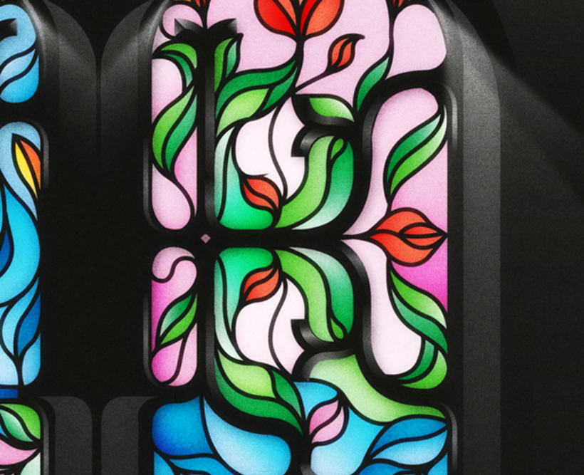 Yorokobu - Stain Glass 4