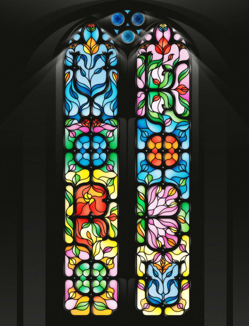 Yorokobu - Stain Glass 2