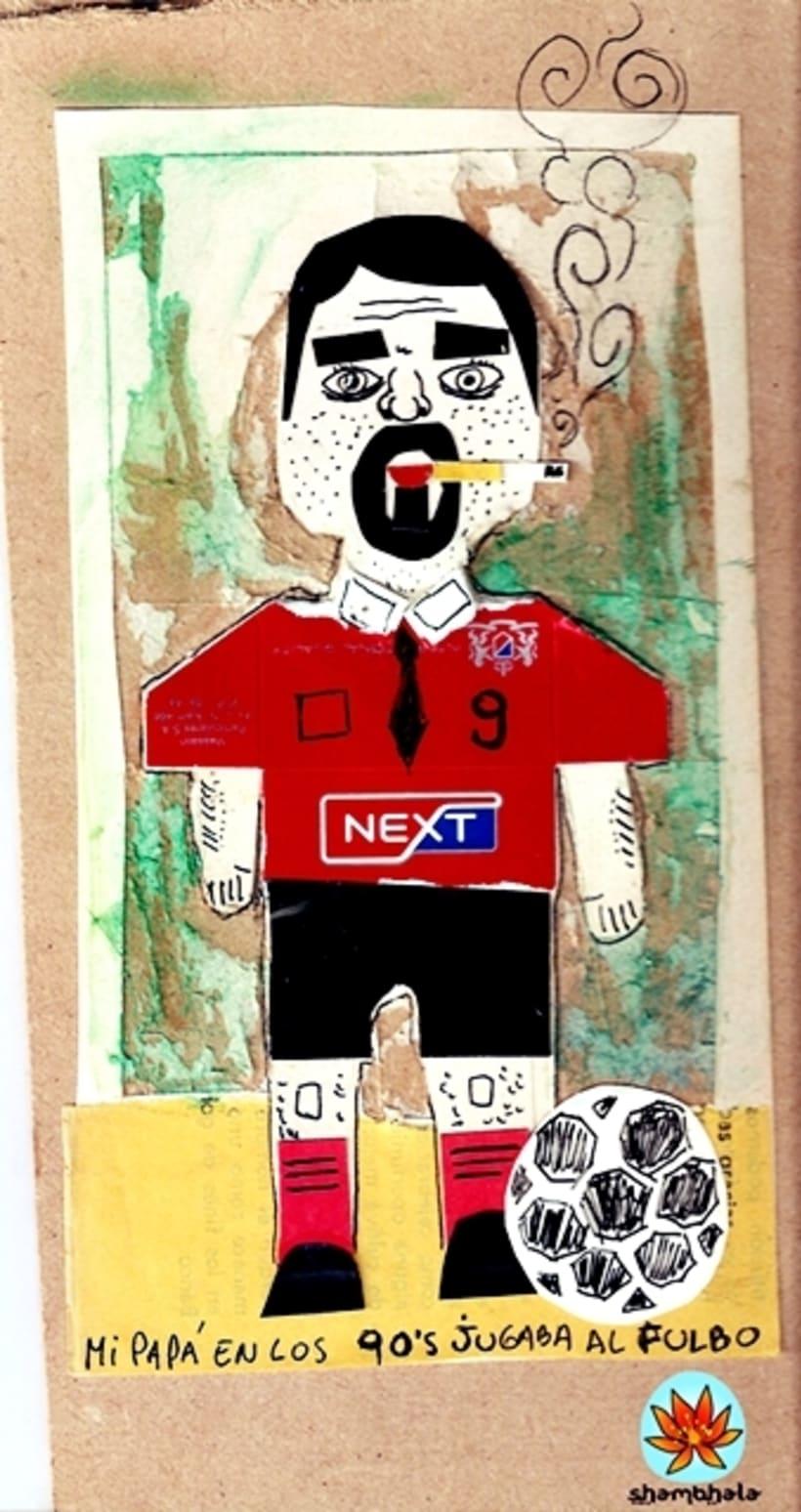 """Collage. """"Mi papá en los 90s jugaba al fulbo"""" -1"""