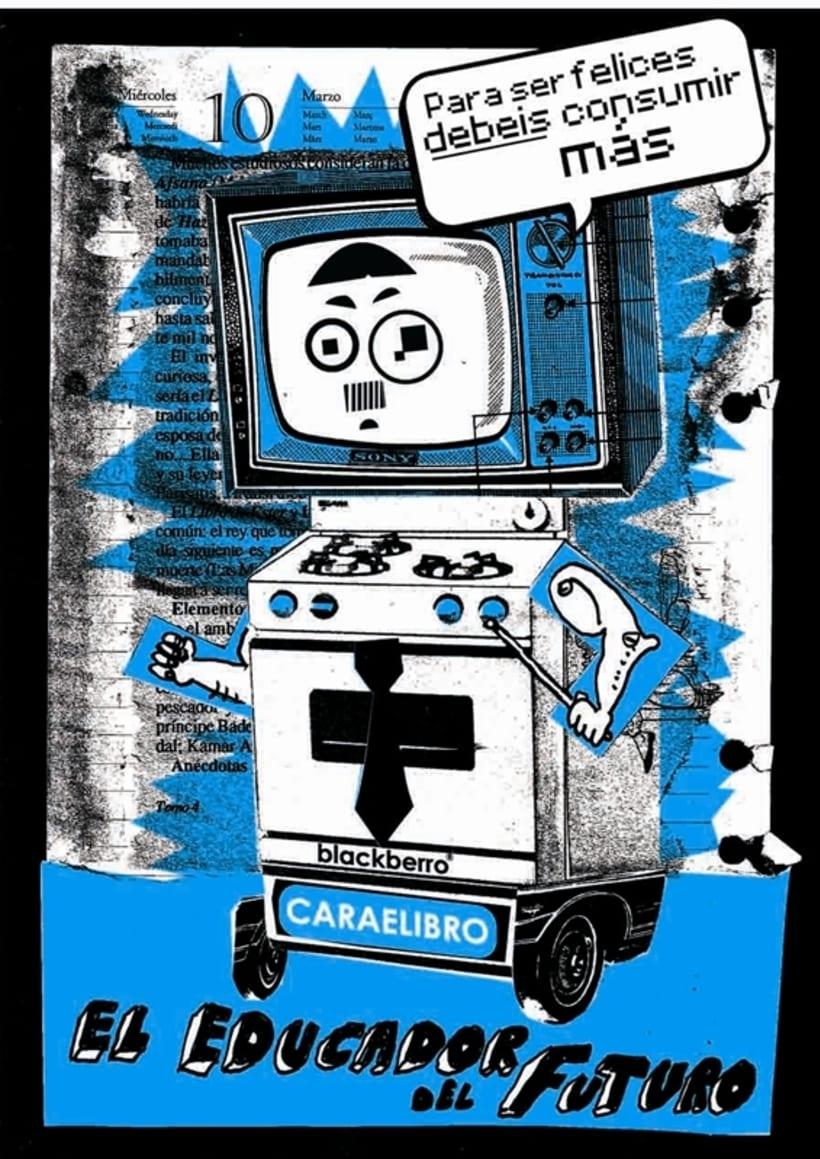"""Ilustración Collage. """"El educador del futuro"""" 0"""