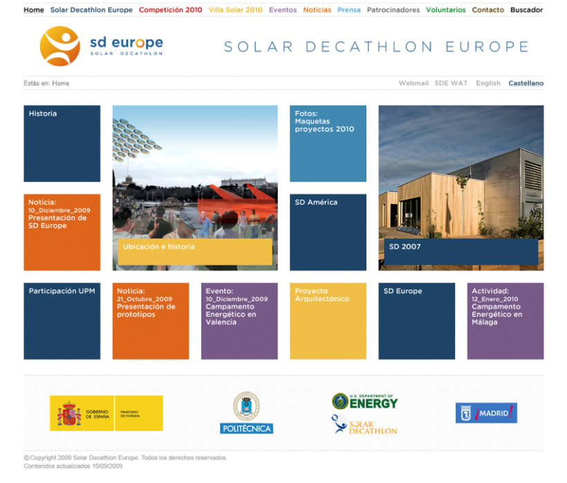 Website Solar Decathlon Europe 1