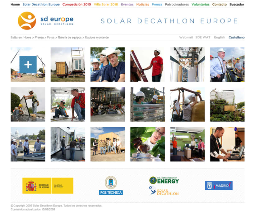 Website Solar Decathlon Europe 3