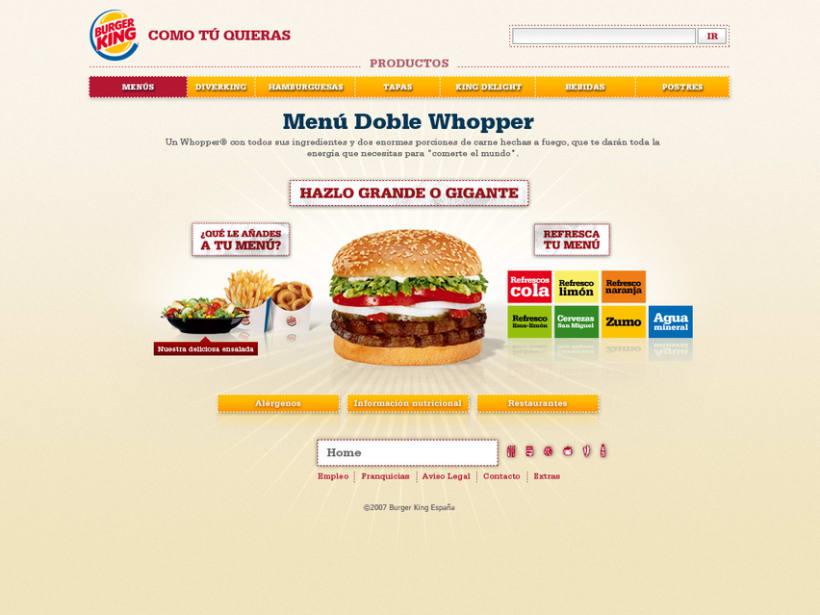 Website Burger King 2