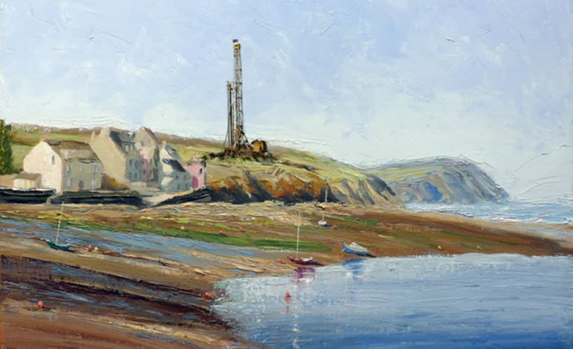Fracking Sussex. Photoshop Oil Painting. -1