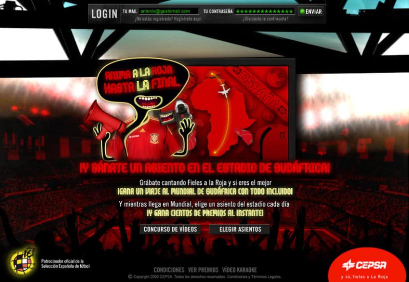 """Microsite CEPSA """"Aníma a La Roja"""" 1"""