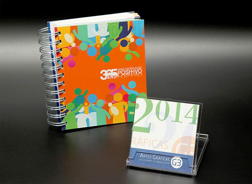 Calendario y Agenda Solidaria G3 para 2014 0