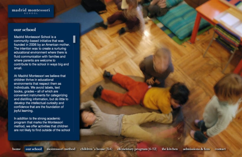 Website Escuela Madrid Montessori  4