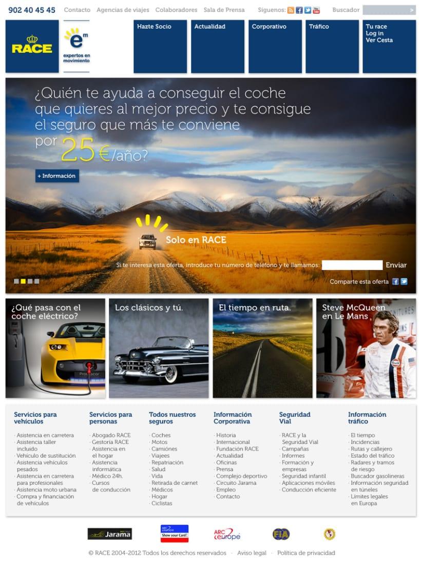 Website R.A.C.E. 1