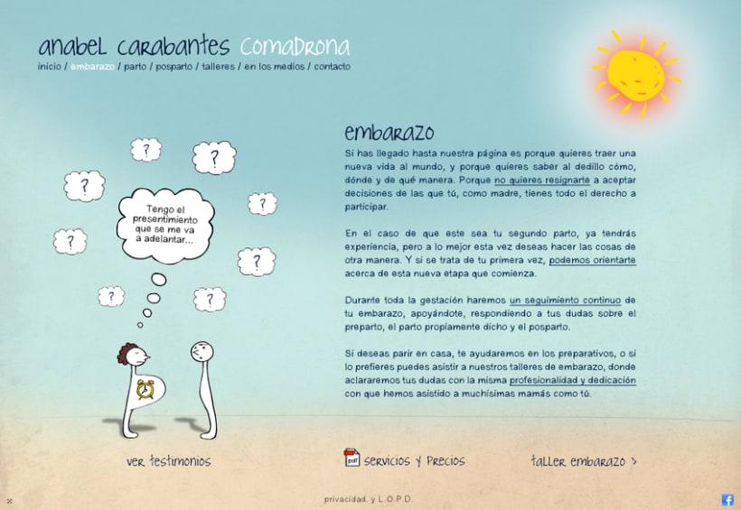 Website Anabel Carabantes Comadrona 2