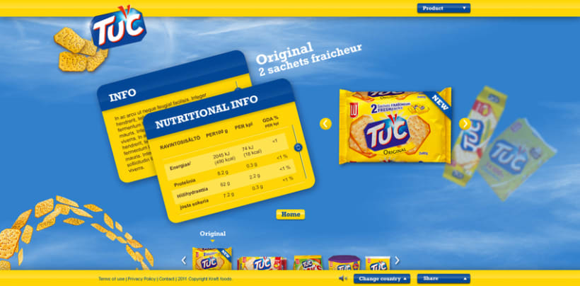 Website TUC biscuits EU 2