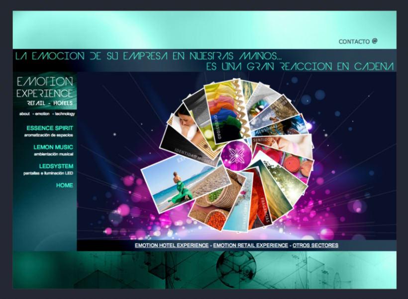 Emotion Experience - Diseño y Maquetación web 0