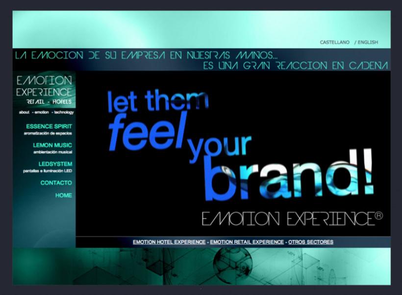 Emotion Experience - Diseño y Maquetación web 1