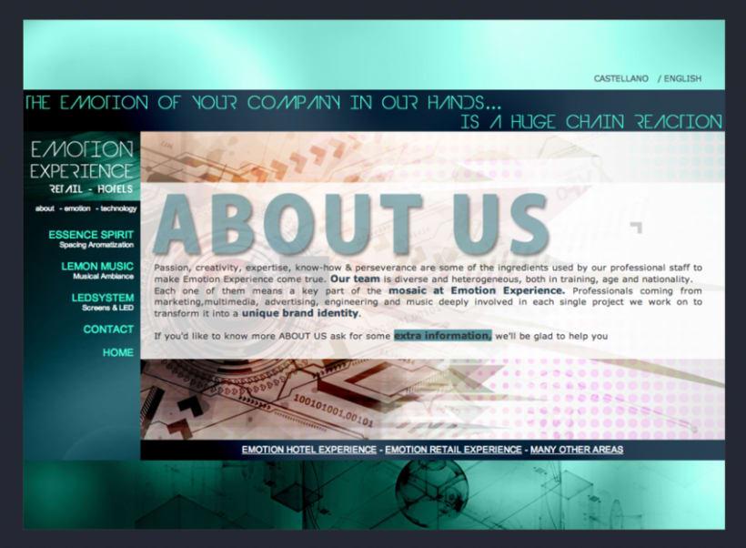 Emotion Experience - Diseño y Maquetación web 3