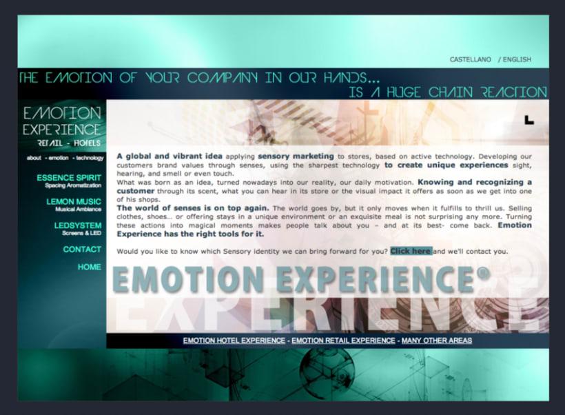 Emotion Experience - Diseño y Maquetación web 4