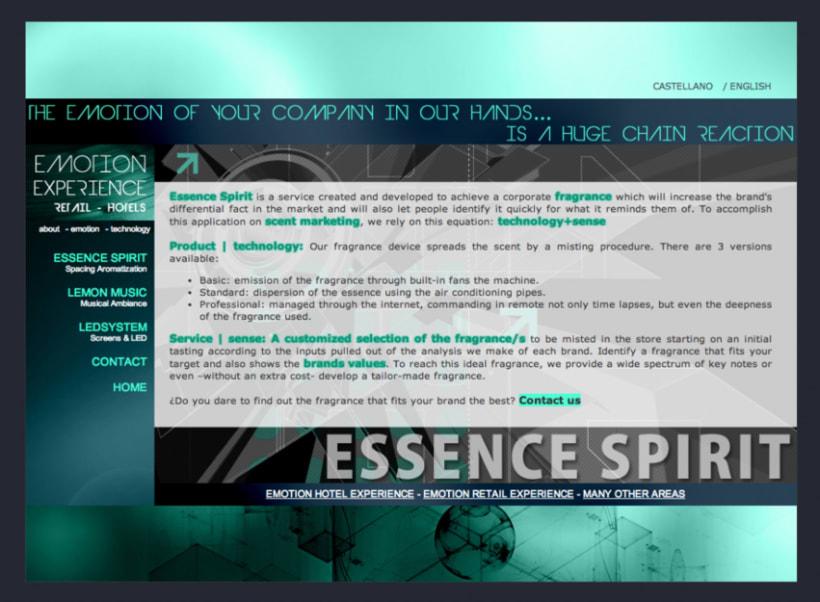 Emotion Experience - Diseño y Maquetación web 5