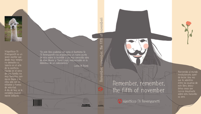 Remember, remember, the fifth of november - book alternative cover 0