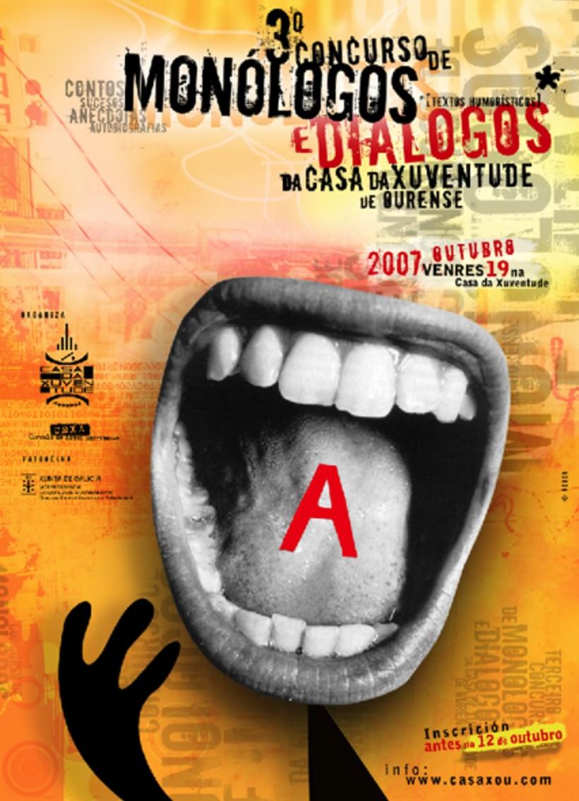 Monólogos e diálogos (Ourense 2007) - CARTEL. 0