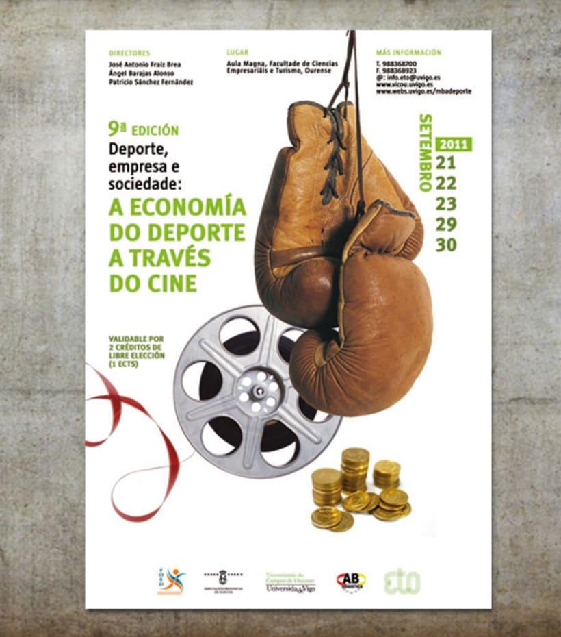 """""""Deporte, empresa y sociedad: La economía del deporte a través del cine"""". 2011. Campus de Ourense. 0"""
