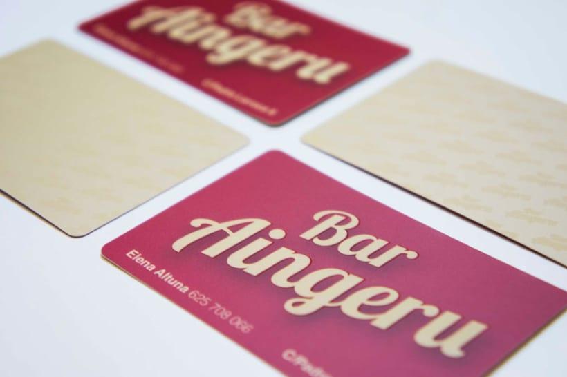 Diseño de Logo y tarjetas de visita para Bar Aingeru -1