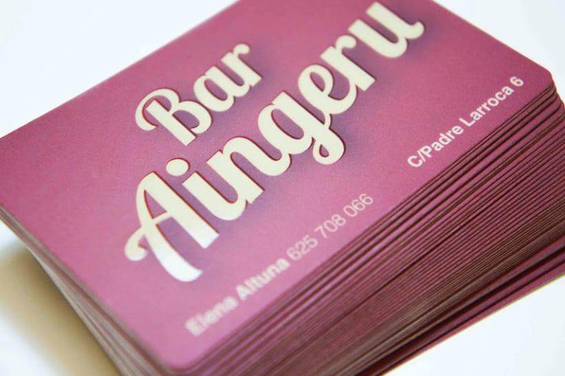 Diseño de Logo y tarjetas de visita para Bar Aingeru 0