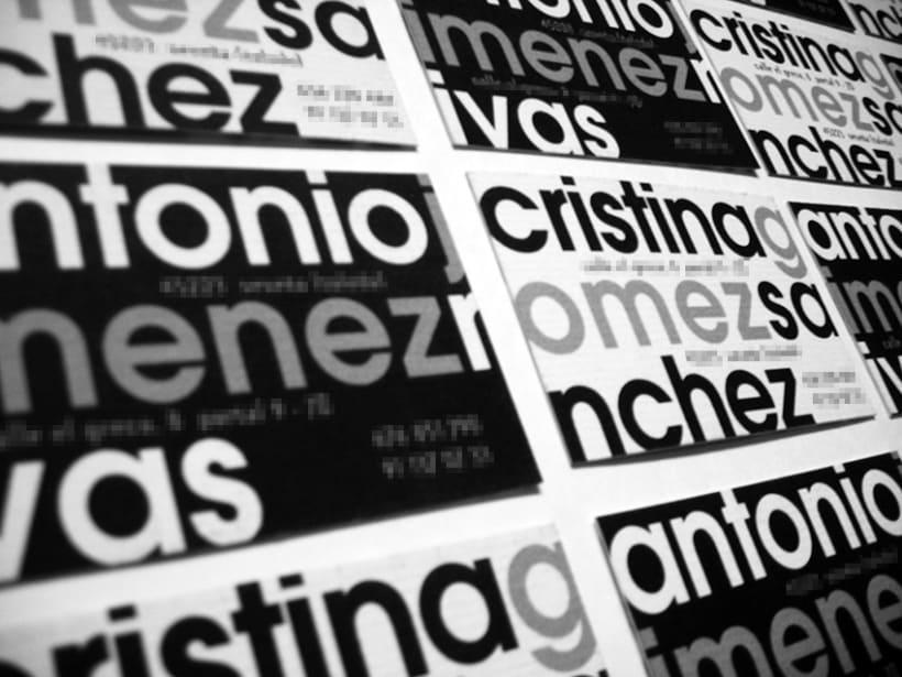 Tarjetas personales Antonio y Cristina 2