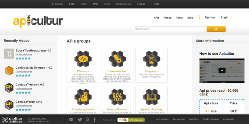 Apicultur, la store de apis lingüísticas para desarrolladores 1