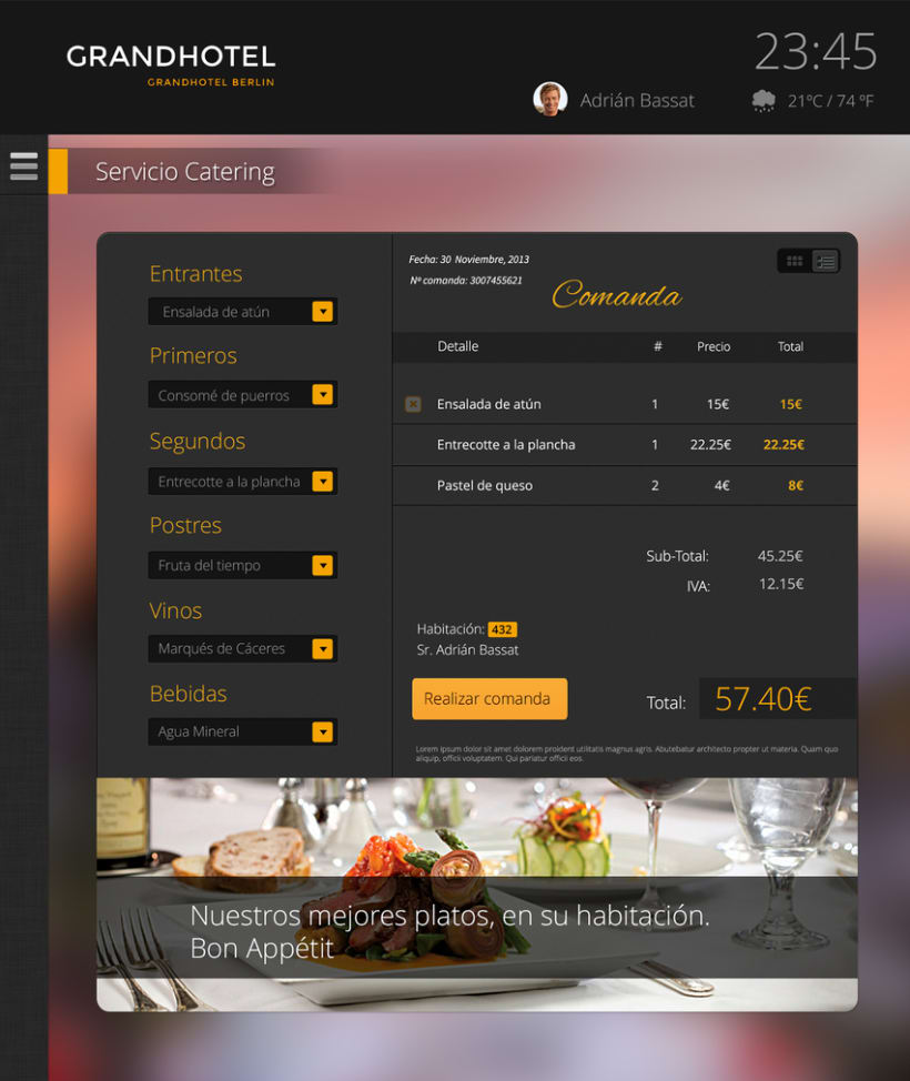 Dise o interfaz app hoteles domestika - Hoteles de diseno en espana ...
