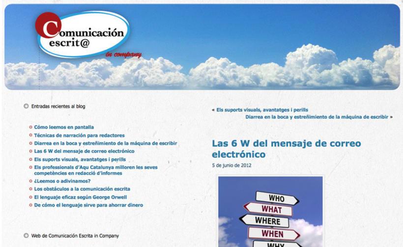 Imagen corporativa, web y blog 2