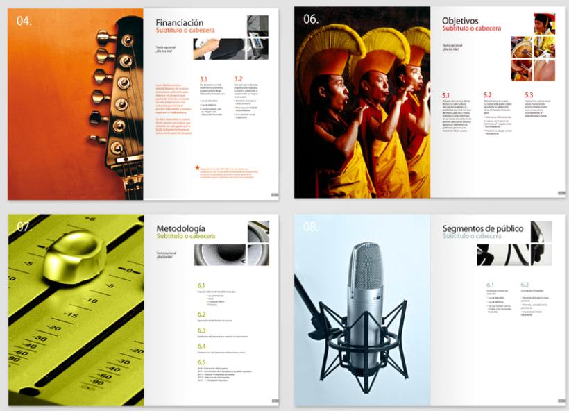 """Maquetación y diagramación brouchure """"Terra de la Música"""" 0"""