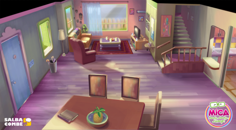 MICA (Animated serie Background desing) 2