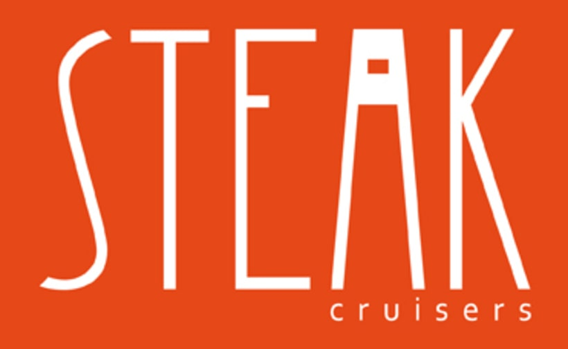 Steak Cruisers. Diseño de logotipo 1