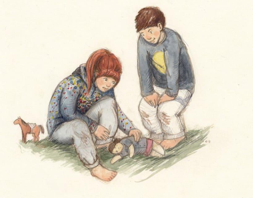 Ben's Angel- proyecto de ilustración infantil 1