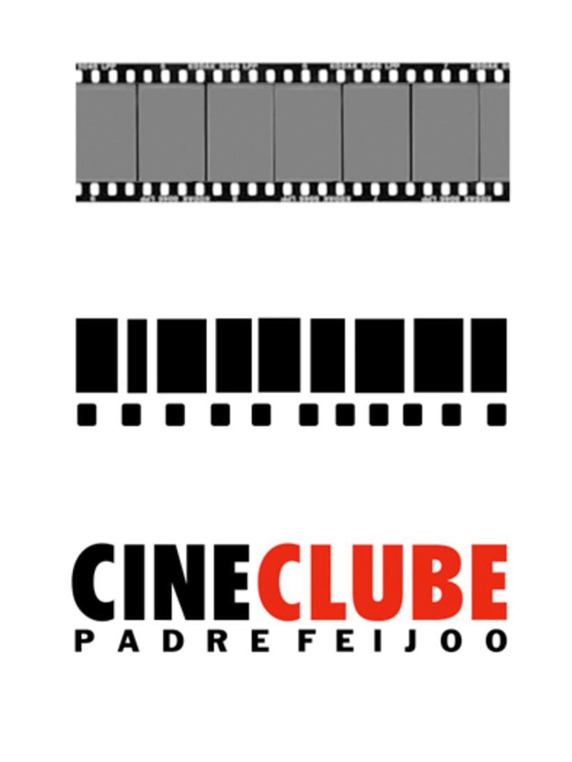CINECLUBE Padre Feijoo. Logotipo y camisetas. (Ourense 1994). 1