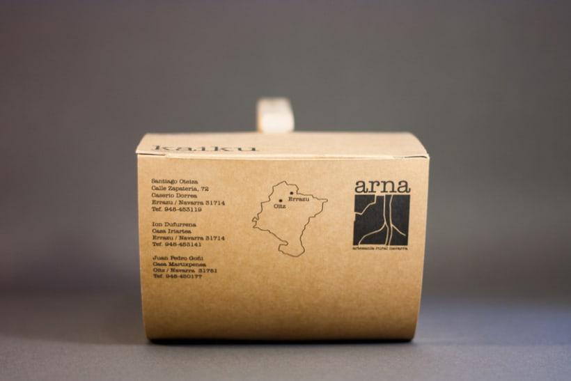 Packaging  y logotipo ARNA 2