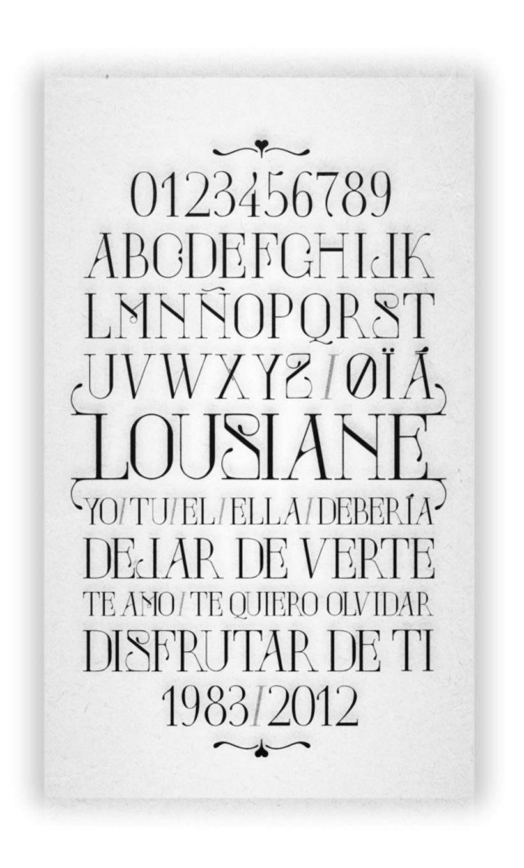 LOUSIANE (free font) 2